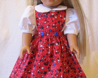 """4th of July Dress & Boots for the American Girl Doll or any other 18"""" Doll"""