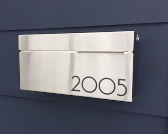 Modern and contemporary mailbox LOUIS S- stainless steel, Modern Mailbox, Wall Mount mailbox - locking optional #147S