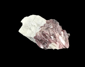 """Raw Sheets of  Lepidolite in Quartz Matrix 3""""  3.3 oz. loaded with Purple Beauties A1327"""