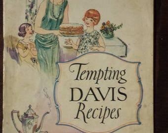 Vintage baking recipe booklet - Davis Baking Powder