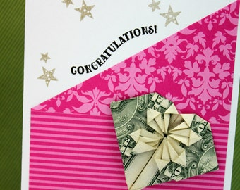 CONGRATULATIONS- one of a kind- origami