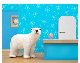 35% OFF SALE Polar bear animal art print: Some Like It Cold
