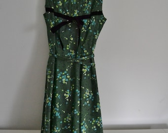 Vintage 1950's/1960's Green Floral Dress - Styled by Jomax