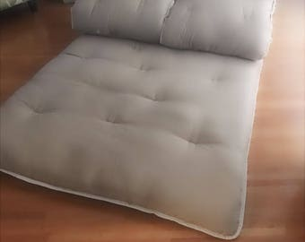"3 piece QUEEN SHIKIBUTON 4.5"" High end 100% pure cotton/wool split mat futon mattress."