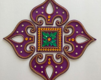 Homemade Kundan Rangoli#Gifting #festive season
