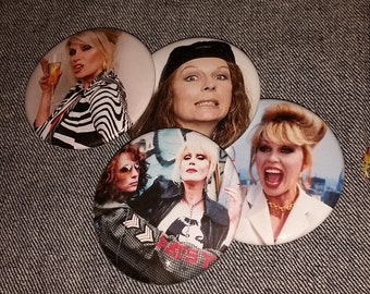 Your choice AbFab Absolutely Fabulous Ab Fab buttons 2-1/4 inch pinback button pin pins pingame badge badges Patsy Stone Edina Monsoon