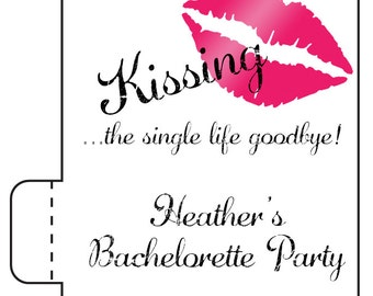 12 Lip Balm Bachelorette Party Favors - Kissing the Single Life Goodbye - Bachelorette Lip Balms - Lip Balm Favors - Getting Married