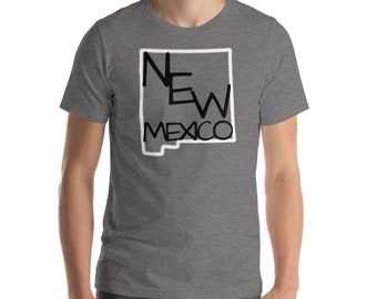 New Mexico State Art Name Shirt Hand Drawn Hand Lettering Hand Writing Tee Short Sleeve Top