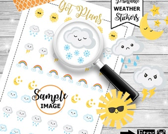 Weather Planner Stickers, Weather Stickers, Planner Stickers, Planner Printables, Printable Planner Stickers, Stickers For Planners