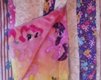 My little pony summer quilted blanket.
