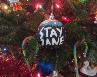 Stay Sane Christmas Tree Ornament 1
