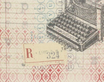 Tim Holtz - Correspondence - Typo Writing Type Letter Fabric PWTH044 BTY