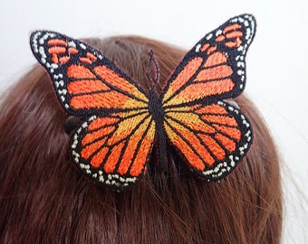 Monarch Butterfly hair comb