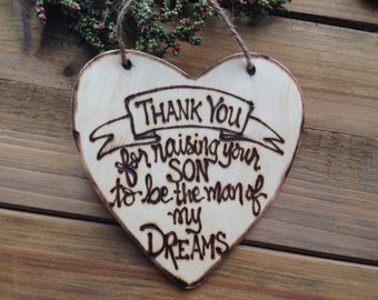 Mother's Day Gift Idea Mother of the Groom In Law Thank You Christmas Holiday Ornament Wedding Engaged Mothers Day Birthday Keepsake