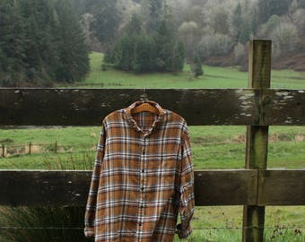 Soft brown/orange flannel (sz: XXXL)
