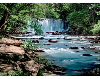 Vickery Creek Falls - Art & collectible photo Giclee prints for home decor or gift suggestion for any occasion.