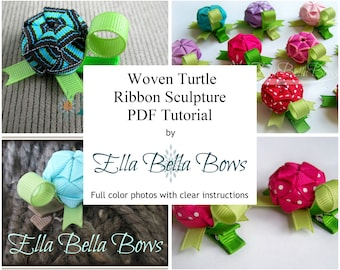Instant Download, Turtle Ribbon Sculpture TUTORIAL in PDF