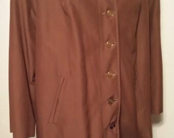 Vintage Womens Brown Full Length Jacket