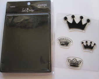 4 cling mount stamps - Heidi Swapp CROWNS - circa 2006