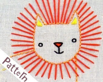 L Lion INSTANT DOWNLOAD PDF embroidery pattern