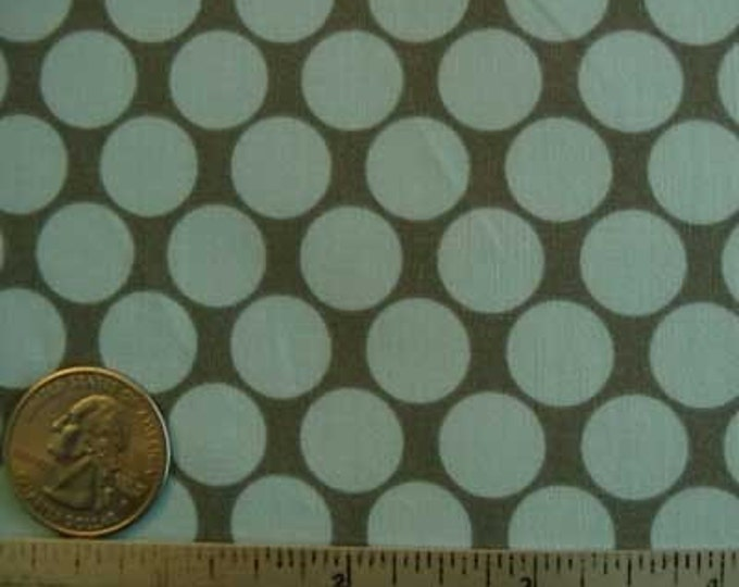 Amy Butler LOTUS FULL MOON Sky Blue Gray Grey Polka Dot Quilt Fabric - Sold in 1/2 Yard increments