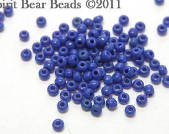 Opaque Dark Blue Czech Seed Beads size 11/0 lot of 20 grams