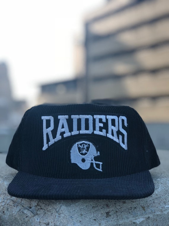 80s Oakland Raiders Corduroy Hat New Era Snapback