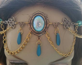 Aqua Circlet of the Mermaid Sorceress celtic druid cosplay bridal renaissance