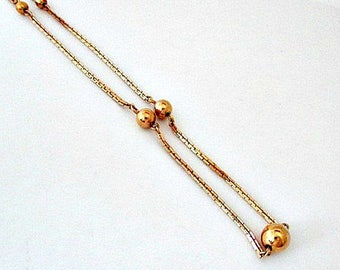 Avon Beaded Chain Necklace - Vintage 1978 Avon Jewelry Gift - 25 Inch Chain Necklace