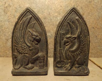 Griffin / Gryphon - medieval architectural details. Relief plaques