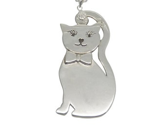 Cat Necklace - Sterling Silver