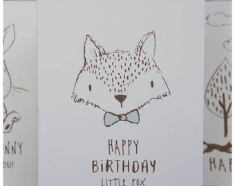 Folding Card Happy Birthday Little Fox