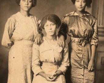 RPPC Real Photo Postcard Three Women