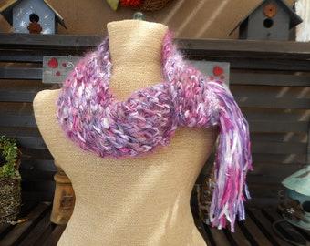 Hand Knit Scarf       Ribbon Scarf