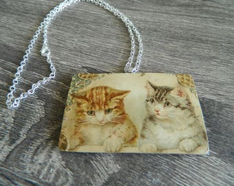 Sweet Victorian or Edwardian Cat Necklace