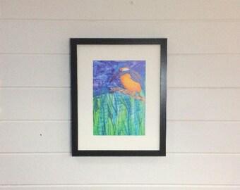 Kingfisher Print A4