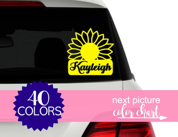Cute decals for cars girly car accessories for women flower