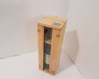Rustic Wedding Wine Box - The perfect Wedding gift personalized with your names or initials.