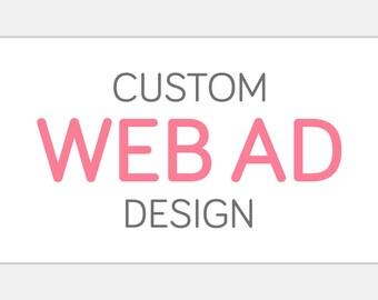 Custom WEB AD Button | Website Shop Digital Display Advertisement Graphic | Custom Personalized Static One Frame Web Blog Link