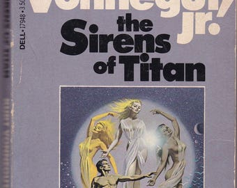 The Sirens Of Titan by Kurt Vonnegut.  1982 Dell Paperback In Acceptable Vintage Condition* (See description).