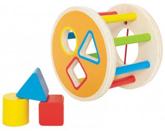 Sorting shapes  - Learning Toy - Montessori toddler toy - Toddler birthday gift - Wooden toy - Educational toy
