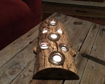 Rustic candle holder