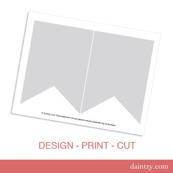 Instant Download: Party Printable Template DIY Banner Flag