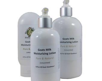 Lotion, Goat Milk Lotion, Goats Milk Lotion, Unscented Lotion, Skin Moisturizer