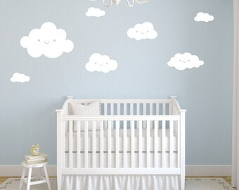 Smiley Clouds - Vinyl Wall Sticker