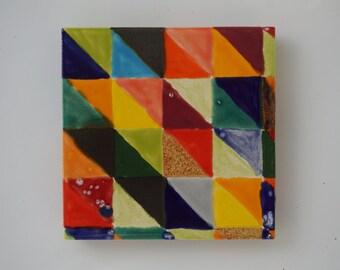 Geometric Ceramic Coaster