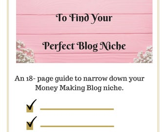 18-Page Guide to choose Money Making Blog Niche