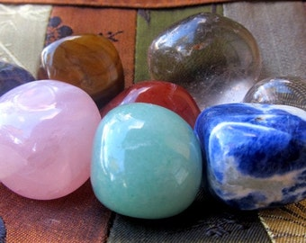 Chakra Healing Stone Set, Healing Crystals, Grounding, Health, Security, Self Expression, Intuition, Confidence