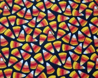 1 1/8 yds x 44 po. large bonbons au maïs, tissu coton imprimé