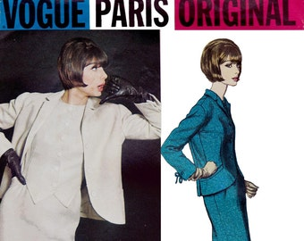 Vogue Paris Original 1360 JACQUES GRIFFE Womens Mod Dress & Jacket 60s Vintage Sewing Pattern Size 14 Bust 34 inches UNUSED Factory Folded